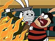 Watch free cartoon Freddy vs Jason in 30 Seconds