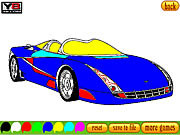 Play Coloring 16 cars Game