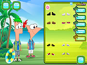 Play Phineas and ferb dress up Game