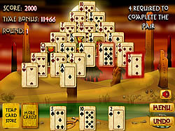 Pyramid Solitaire Mummy's Curse game