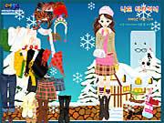 Winter Dress Up game