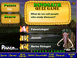 Dinosaur Quiz Game game