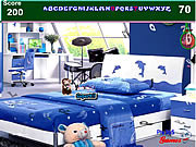 Kids Blue Bedroom Hidden Alphabets game