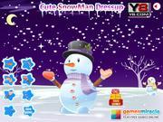 Cute Snowman Dressup game