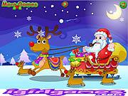 Play Happy santa claus and reindeer Game