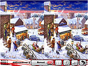 Strawberry Christmas 5 Differences game