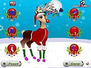 Play Christmas reindeer dress up Game