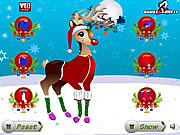Christmas Reindeer Dress Up game