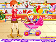 Pretty Shooping Mom and Baby game