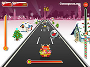 Play Crazy santa racer Game