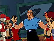 Vea dibujos animados gratis Rolling Red Knuckles X