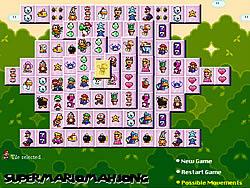 Super Mario Mahjong game
