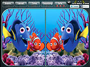 Play Finding nemo spot the difference Game