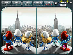 The Smurfs Spot the Difference game