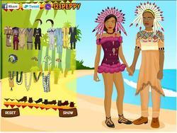 African Wedding Dressup game