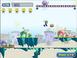 SpongeBob Crazy Run game