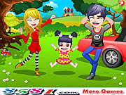 Play Happy spring family trip Game