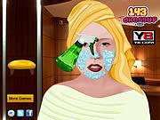 Lady Gaga At New York City Spa game