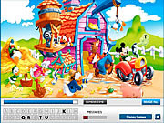 Play Mickey mouse hidden letters Game