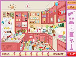 Messy Kitchen Hidden Objects لعبة