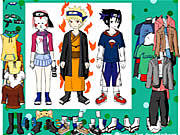 Naruto Character Dressup game