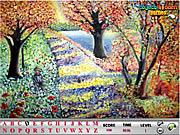 Flower Garden Hidden Alphabets game