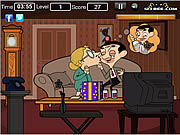 Mr Bean Kissing game