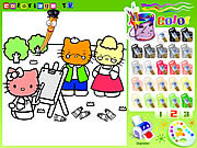 Hello Kitty Painting game