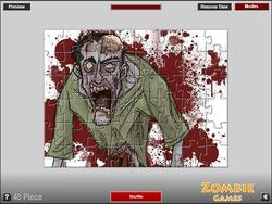 Zombie Puzzle Game game