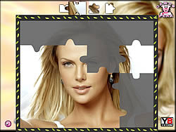Charlize Theron Puzzle game