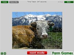 Alpine Cow Jigsaw game