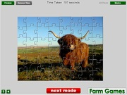 Highland Cow Jigsaw game