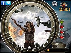 Resident Evil Retribution - Find the Alphabets game