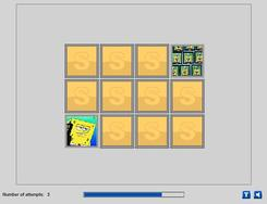 SpongeBob and Patrick Memory game