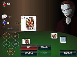 Blackjack With Vampire game