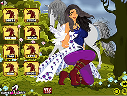 Girl with Unicorn game