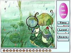 Fantastic Frogs Hidden Numbers game