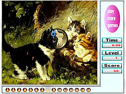 Naughty Cats Hidden Numbers game