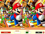 Jogar jogo grátis Super Mario - Find the Differences