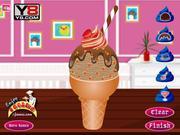 Juega al juego gratis Chocolate Ice Cream Decoration