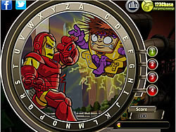 Super Hero Squad - Find the Alphabets game