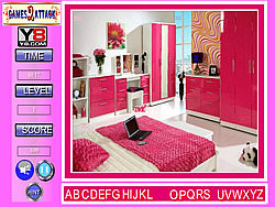 Lovely Pink Room Find the Alphabets game