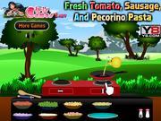 Fresh Tomato, Sausage, and Pecorino Pasta game