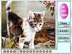 Melancholic cats hidden numbers game