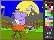 Walking Frankie Coloring Page game