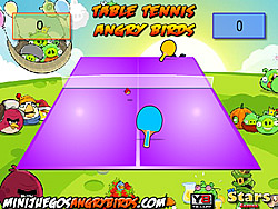 Table Tennis Angry Birds game