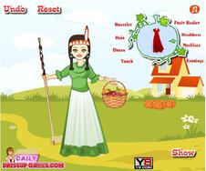 Native American Girl Dressup game