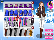 juego Winter Barbie Dressup