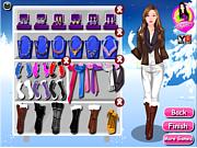 Winter Barbie Dressup game
