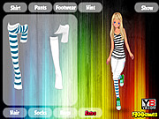 Dress up sport girl game